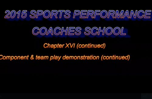 2015 Coaches School - Part 11 - Component & Team Play (Ctd.)