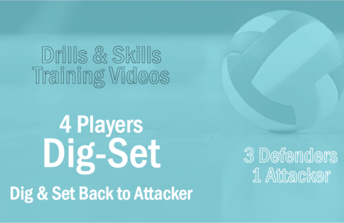 3 Defenders Dig And Set The Ball Back To The Attacker